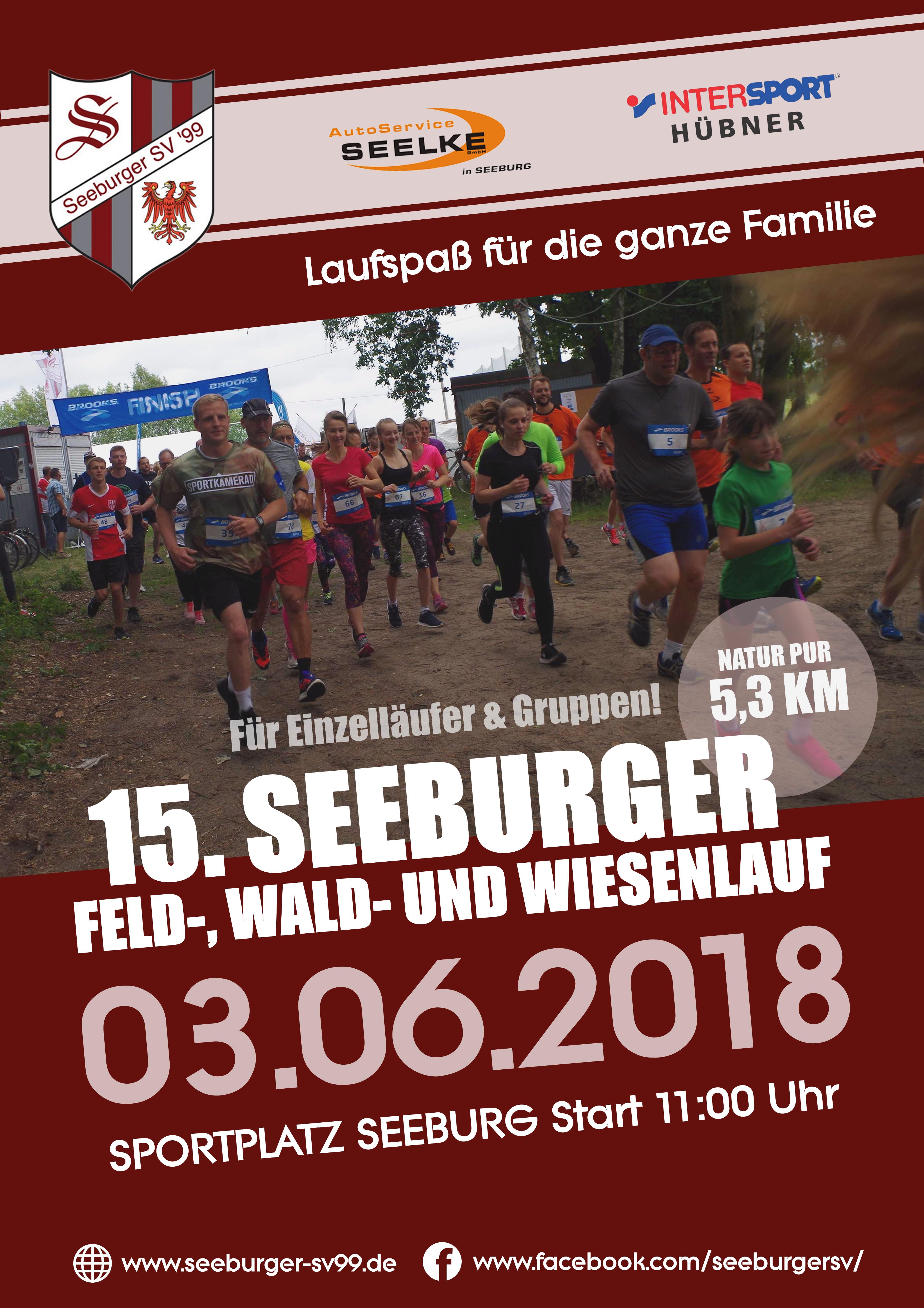 15. Seeburger Feld-, Wald- und Wiesenlauf am 3. Juni 2018