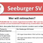 Herzlich willkommen beim Seeburger SV